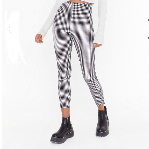 Nasty Gal Pants - Nasty Gal Houndstooth Legging Pants
